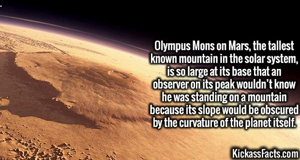 olympus mons facts