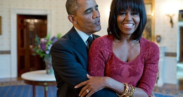 Michelle and Barack