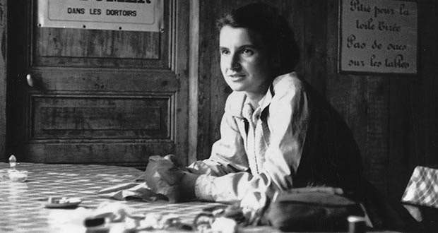Chemist ROSALIND FRANKLIN holiday snapshot in the Cabane des Evettes taken by Vittorio Luzzati NO COPYRIGHT SENT