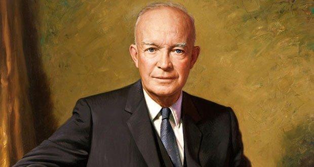 US President Dwight D Eisenhower