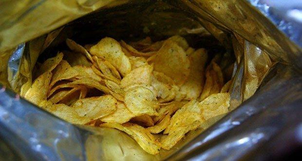 Stale potato chips