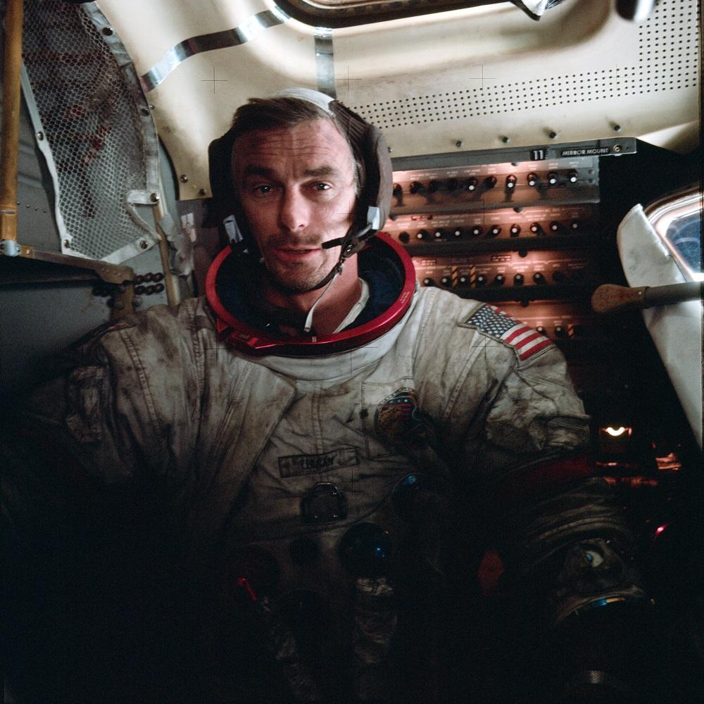 Eugene Cernan on the surface of the moon, 1972.