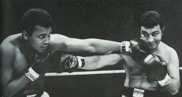Muhammad Ali and Rocky Marciano boxing