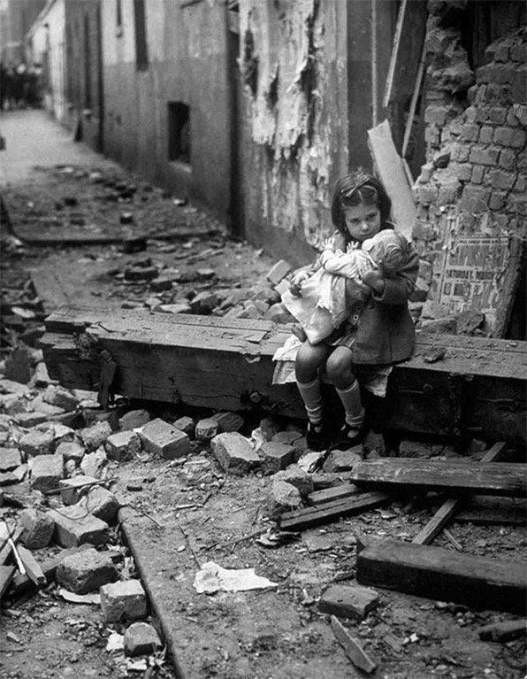 an english girl hugs her doll
