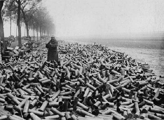 expended artillery shells
