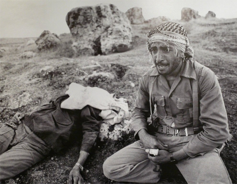 iranian soldier weeps