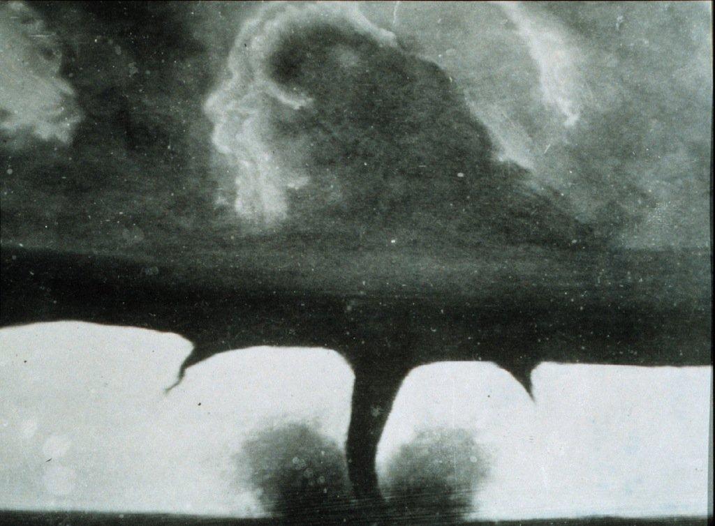 first photo of a tornado
