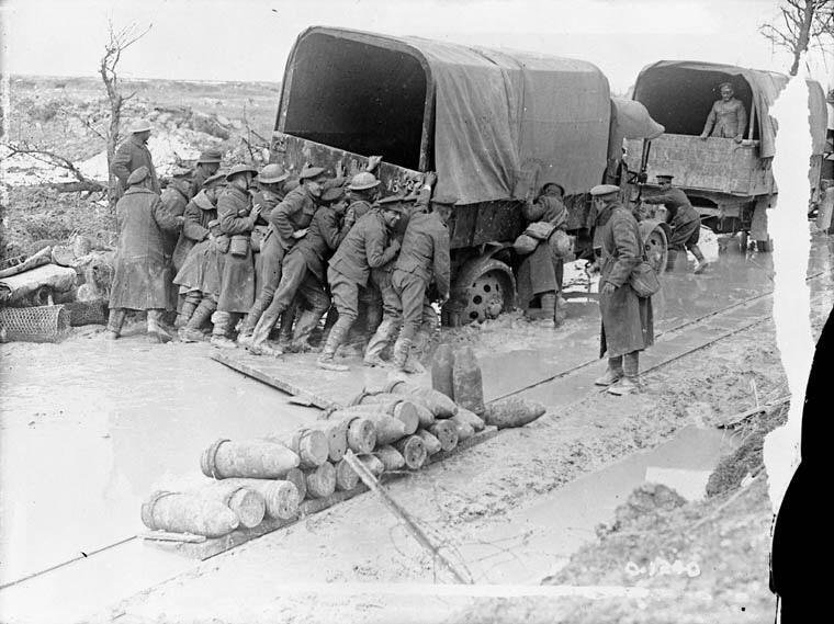 canadians giving a lorry helping hand