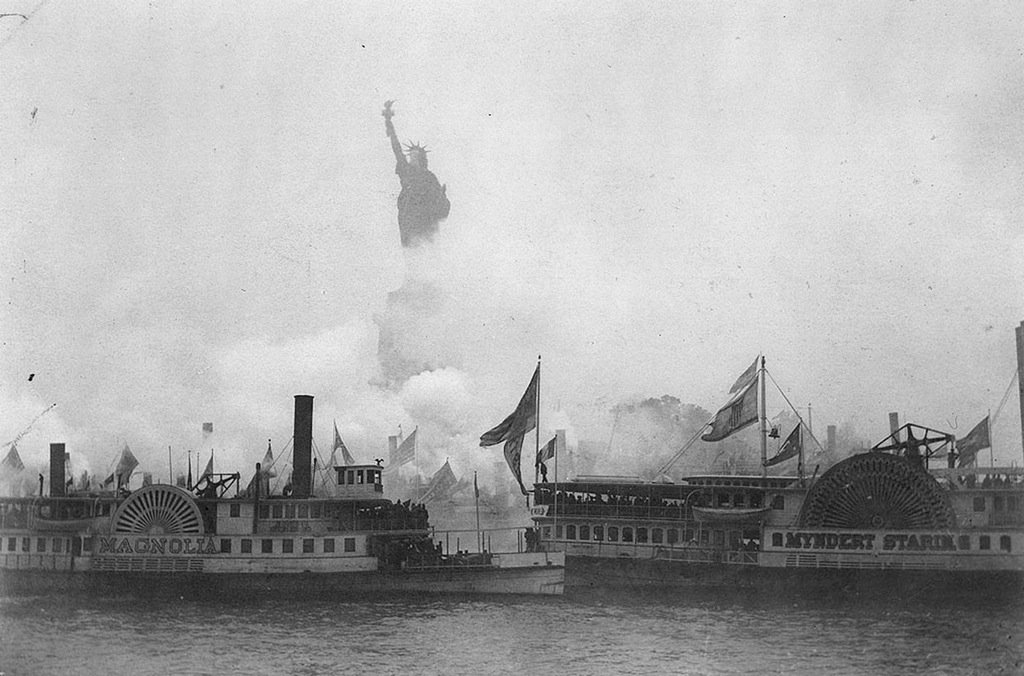 inauguration of statue of liberty