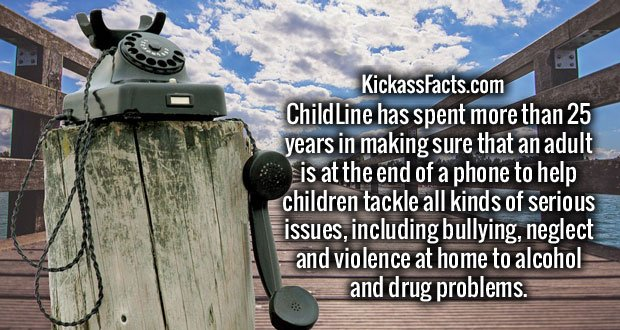 ChildLine has spent more than 25 years in making sure that an adult is at the end of a phone to help children tackle all kinds of serious issues, including bullying, neglect and violence at home to alcohol and drug problems.