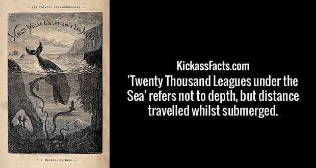 'Twenty Thousand Leagues under the Sea' refers not to depth, but distance travelled whilst submerged.