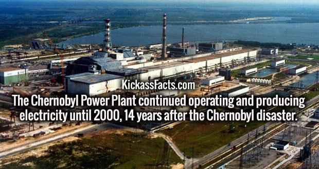 The Chernobyl Power Plant continued operating and producing electricity until 2000, 14 years after the Chernobyl disaster.