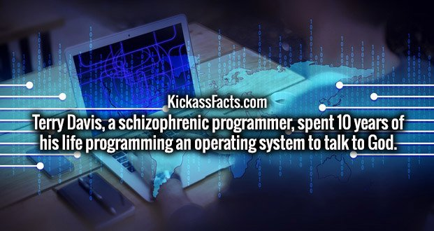 Terry Davis, a schizophrenic programmer, spent 10 years of his life programming an operating system to talk to God.