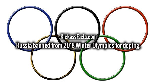 Russia banned from 2018 Winter Olympics for doping.
