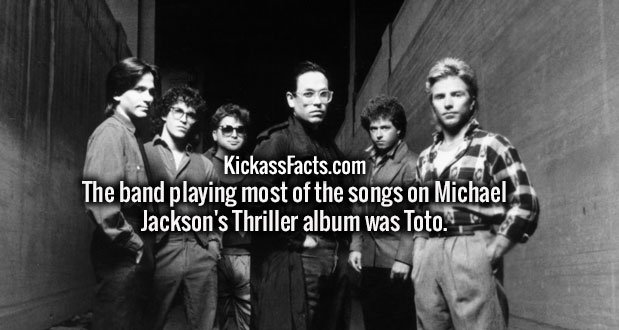 The band playing most of the songs on Michael Jackson's Thriller album was Toto.