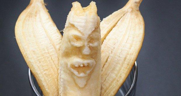 peeled banana in ass