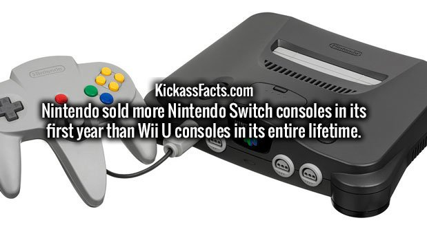 Nintendo sold more Nintendo Switch consoles in its first year than Wii U consoles in its entire lifetime.