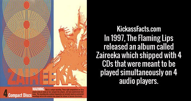 In 1997, The Flaming Lips released an album called Zaireeka which shipped with 4 CDs that were meant to be played simultaneously on 4 audio players.