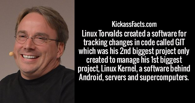 Linux Torvalds created a software for tracking changes in code called GIT which was his 2nd biggest project only created to manage his 1st biggest project, Linux Kernel, a software behind Android, servers and supercomputers.