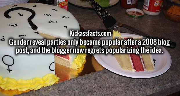 Gender reveal parties only became popular after a 2008 blog post, and the blogger now regrets popularizing the idea.
