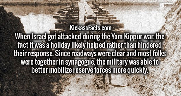 When Israel got attacked during the Yom Kippur war, the fact it was a holiday likely helped rather than hindered their response. Since roadways were clear and most folks were together in synagogue, the military was able to better mobilize reserve forces more quickly.