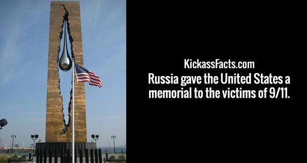 Russia gave the United States a memorial to the victims of 9/11.